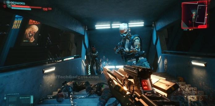 Combat with Unique Guns in Cyberpunk