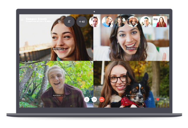 Skype added video calling support up to 50 participants
