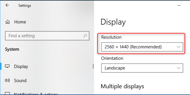 PC 4K 3840×2160 pixels display