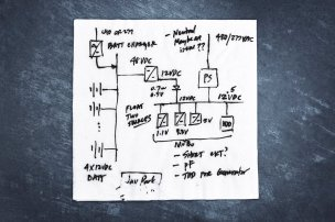 The data center is huge, but the idea that launched it began on the back of this paper napkin. Late one night, while traveling, engineer Jay Park sketched his vision for a system that streamlined the way power moves from the local utility grid to our servers.