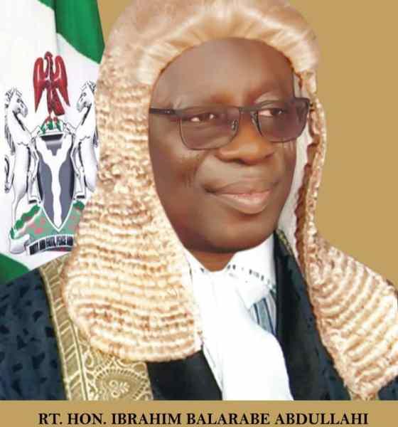The Speaker of the State House of Assembly, Rt. Hon. Ibrahim Balarabe Abdullahi