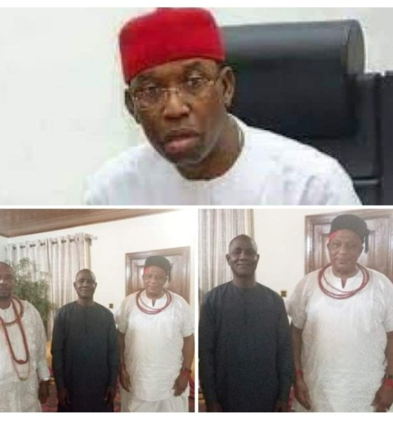 President General of Urhobo Progress Union Worldwide, UPU, Olorogun Moses Taiga, Executive Assistant to the Governor on Communications, Chief Dr Fred Latimore Oghenesivbe Esq (M) and other stakeholder