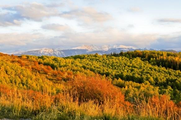 Mountain view in Edwards, Colorado.