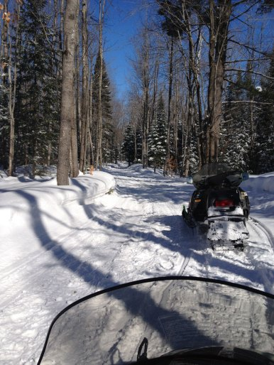 Deborah M. - Giving us a first-person view of snowmobiling in Harbor Springs, Michigan.