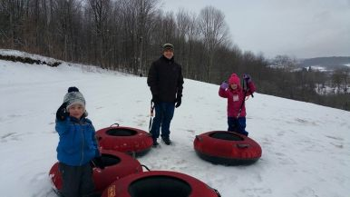 Tracey T. - Taking the family tubing in New York.