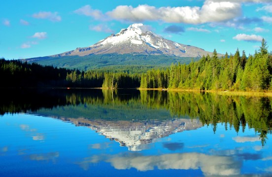 Reflection of Mount Hood from Trillium Lake, courtesy of member Kirk P.