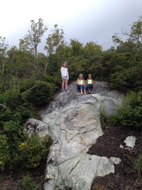 Member Grant B. arriving at the top of Sugar Mountain with his kids.