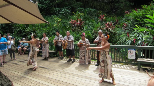 Member Dale H. watch a traditional luau during his stay in Kauai, Hawaii.
