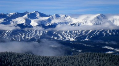 "Susan M. - ""A skier's view of Breckenridge, Colorado, on a clear day from the peaks of Keystone Resort."""