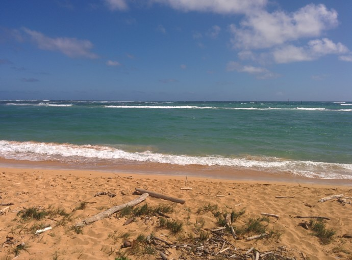 This lovely beach is right outside the Pono Kai resort.