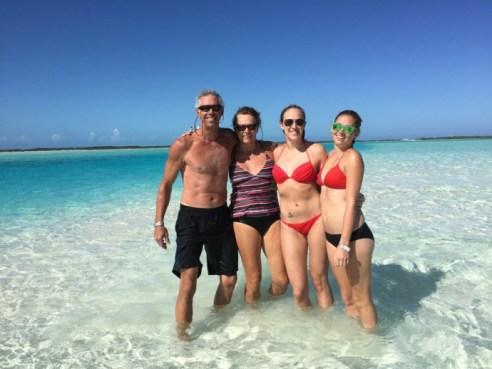 Family on Sandbar
