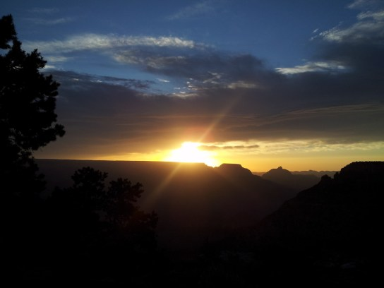 Morning sunrise from the Grand Canyon. Photo courtesy of member Alicia C.