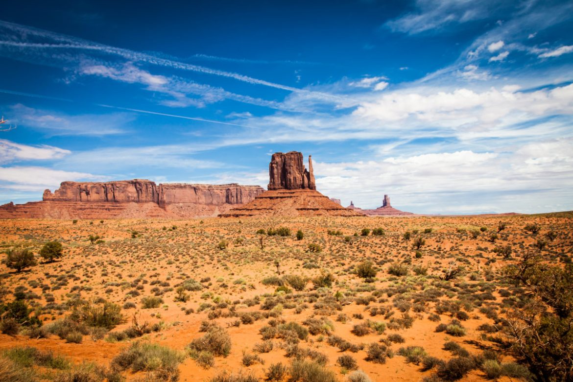 Iconic view of Monument Valley Navajo Tribal Park.