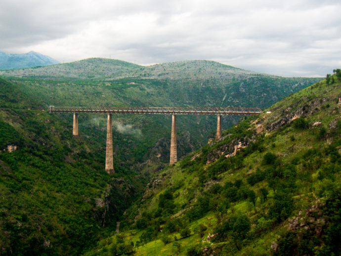 The Mala Rijeka Viaduct takes the railway tracks to new heights. Photo Credit: Chico Boomba/Flickr