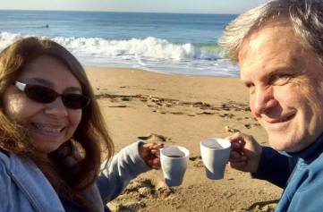 """We love to sit on the beach enjoying our morning tea!"" - Beckie V."