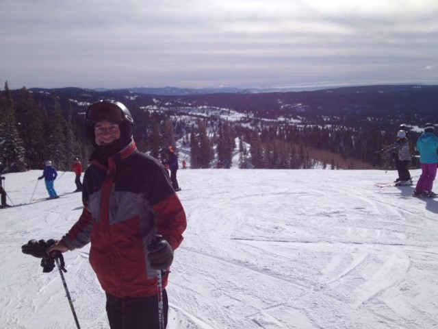 Member skiing in Steamboat Springs, Colorado.