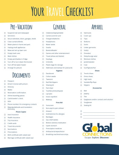 Your Comprehensive Travel Checklist