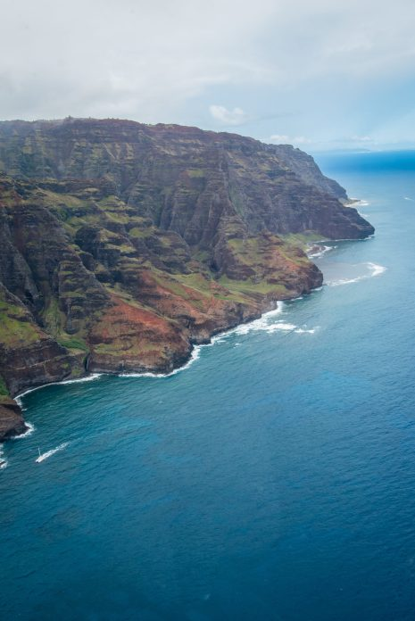 """Photo taken from helicopter during our tour of the Na Pali Coast. One of the highlights of our trip to Kauai, Hawaii."" - Member Jason N."