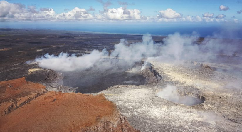 """Volcano National Park, via helicopter provided, a stunning overhead view of Kilauea Caldera and Halemaumau Crater."" - Member Joel P."