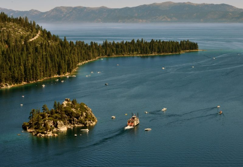 """The paddle boat on Lake Tahoe from the high point."" - Member Dale R."