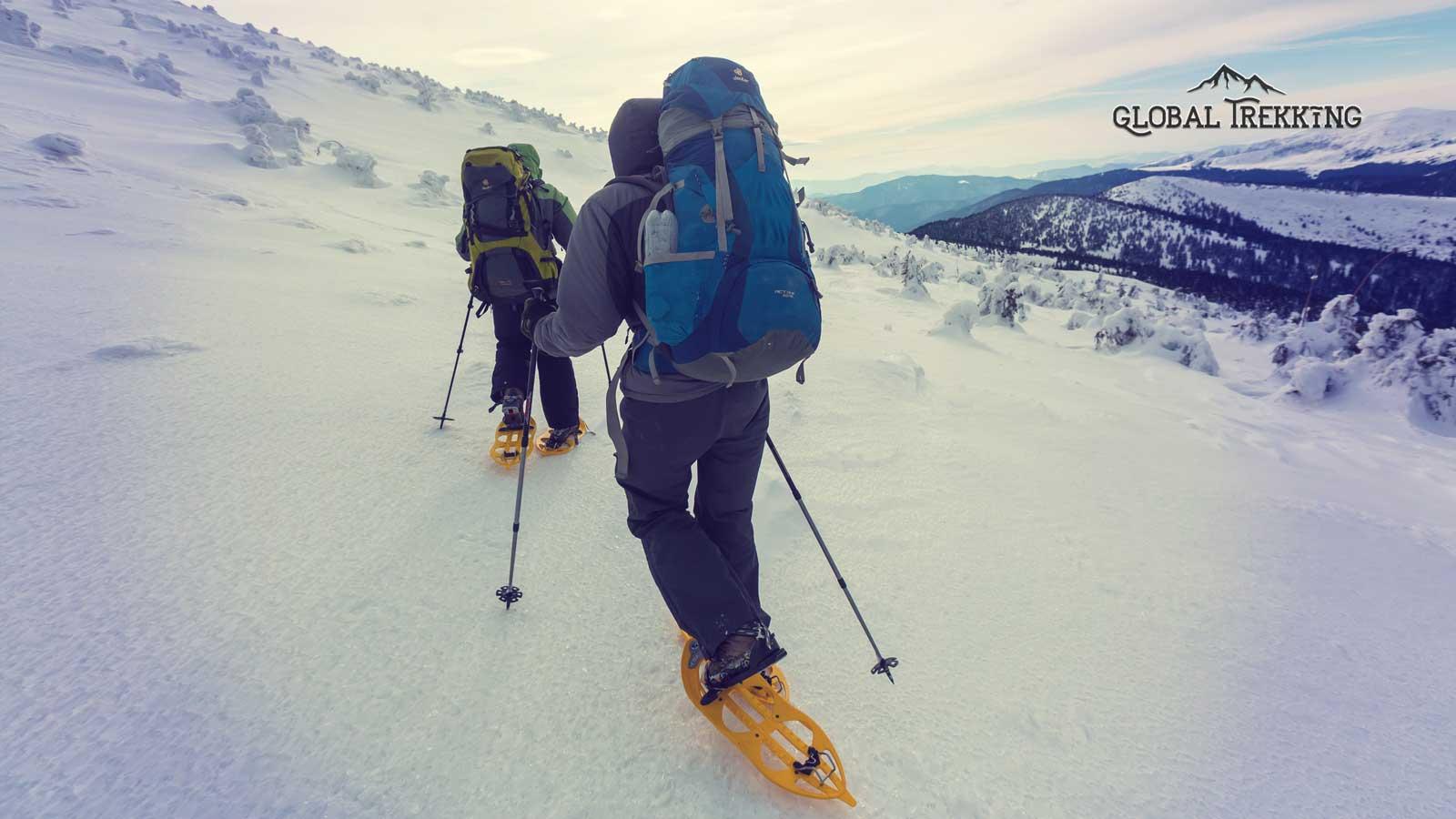 snowshoeing-dolomites