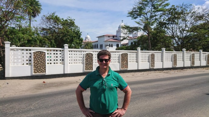 Tim front of Ocean Rd Hospital
