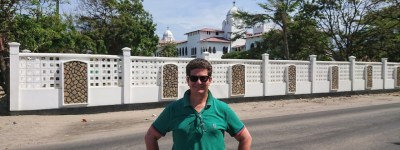 Tim Staermose in front of Ocean Rd Hospital in Dar es Salaam