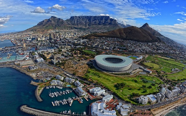 Top view of Cape town South Africa