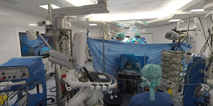 360° medical video: open-heart surgery