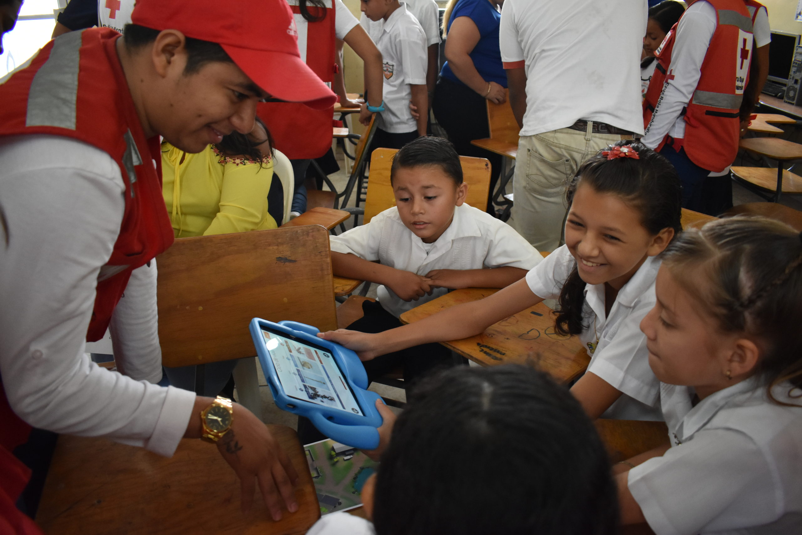 Zika AR experience shown in a school