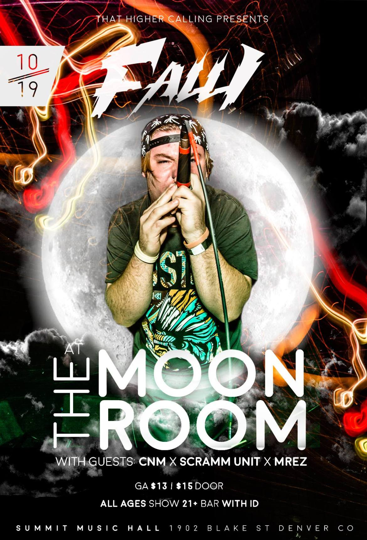 The Moon Room Flyer