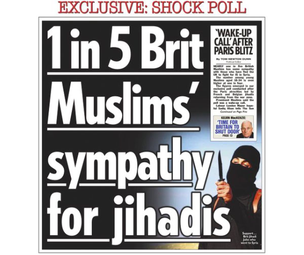 Screenshot: The UK's Independent Press Standards received 450 complaints about the front page of The Sun.
