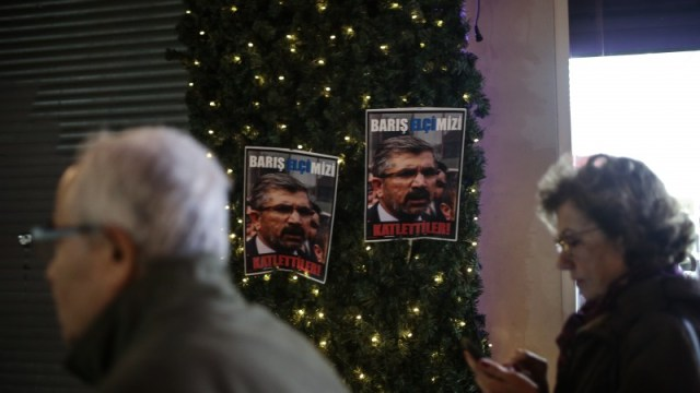 Istanbul, Turkey. 28th November 2015 -- The unknown assailants shot at Tahir Elci, head of the bar association in Diyarbakir, and 40 other activists as they were giving a press statement near a mosque in the city's Sur district, according to witnesses. -- One of Turkey's leading lawyer Tahir Elci was killed in an armed attack. The ambassador said that live to be a terrorist organization PKK were detained last mon.