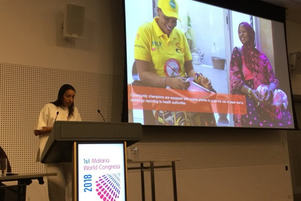 """Maelle Ba du Sénégal présente """"Zéro Palu! Je m'engage"""": un mouvement pour une Afrique sans paludisme - Photo de l'auteur de Malaria World Congress"""