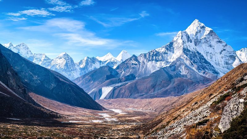 K2, at 8,611 metres (28,251 ft) above sea level, is the second highest mountain in the world. Image via Flickr and Google Images by Waqas Anees. Public Domain.