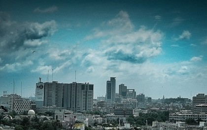 Skyline of Karachi. Image from Flickr by Kashiff. Used under a Creative Commons License