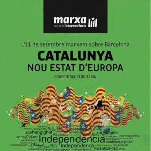 """Catalonia, new state in Europe"". Poster for the joint mass meeting on September 11."