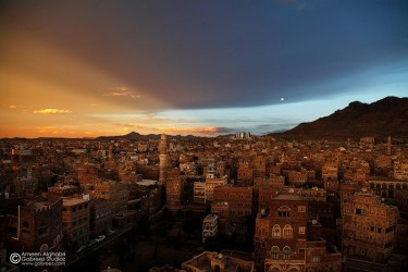 A beautiful shot of the old city of Sanaa through the lens of Ameen Alghabri