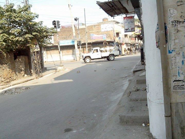Curfew in Rawalpindi after clashes between Shia and Sunni groups. Image by Muhammad Majid Rashid. Copyright Demotix (16-11-2013)