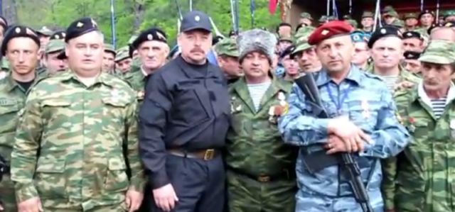 """""""We are coming to the southeast,"""" declares a Crimean militia. May 2, 2014, YouTube."""