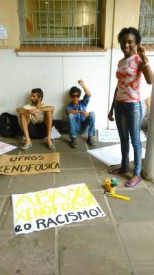 Domingas lors de la manifestation du 23 février. Photo: barricadas Abrem Caminhos / utilisée avec permission