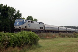 The U.S. government created Amtrak in 1971 to resuscitate train travel, which had dropped significantly since its peak in 1929. But ridership is low compared to that of other developed countries. The Obama Administration has now allocated $8 billion to upgrade and increase speeds on existing lines and create new high-speed lines in 10 corridors nationwide. Pictured: an Amtrak train passes south of Manassas, VA on a Sunday afternoon