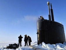 A Navy sub in the Arctic