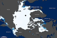 Arctic Sea Ice Extent at Record Low for January, Tied Record Low for February