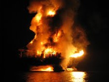 An oil rig owned by Chevron explodes off the coast of Nigeria