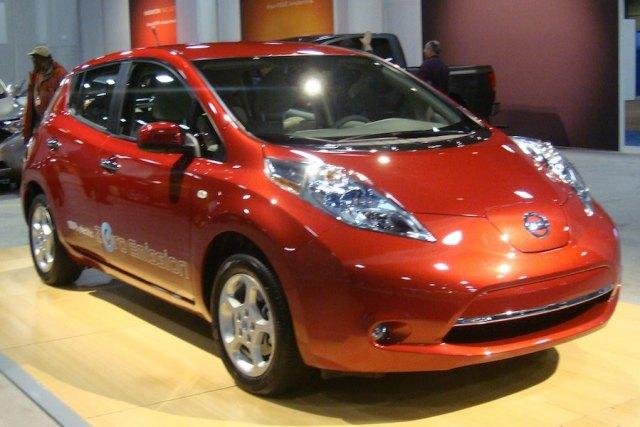 The Nissan Leaf Electric Car