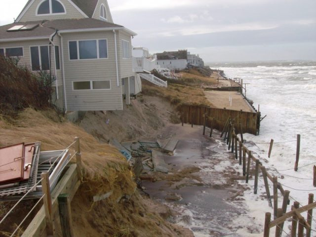 Living in the Hamptons. Severe beach erosion washes away wealth