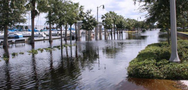 Flooding from sea level rise, beach erosion