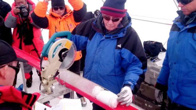 Ice core reveals rapid warming