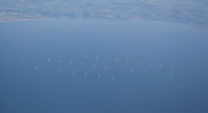 Offshore wind farm one example of global renewable energy taking the lead in energy development